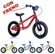 Bicicleta Niño Speed Racer Mis 12 sin pedales con freno amarillo fluo