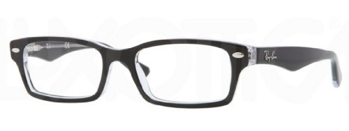 Ray Ban Junior RY1530 Eyeglasses-3529 Top Black on Transparent-48mm by Ray-Ban