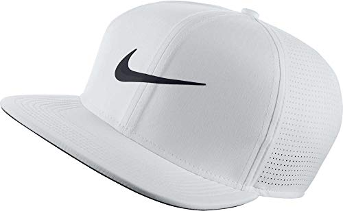 NIKE Unisex AeroBill Adjustable Cap, White/Anthracite/Black, One - Tennis Nike Fit Hat Dri
