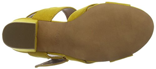Resco 87 Dark Yellow Ouvert Femme Look Bout Escarpins New Yellow Cwq6T55z
