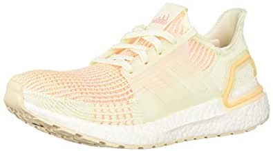 adidas Women's Ultraboost 19 Running Shoe, Off White/Glow Orange, 5 M US
