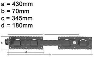 BAUER Doppeltor/überwurfvz sw Schmiede randgeh/ämmert