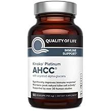 Premium Kinoko Platinum AHCC Supplement – 750mg of AHCC per Capsule – Supports Immune Health, Liver Function, Maintains Natural Killer Cell Activity – 60 Veggie Capsules