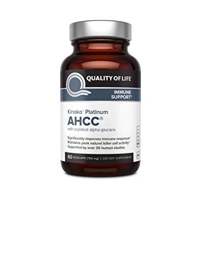 Compounds Active - Premium Kinoko Platinum AHCC Supplement – 750mg of AHCC per Capsule – Supports Immune Health, Liver Function, Maintains Natural Killer Cell Activity – 60 Veggie Capsules