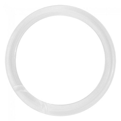NAHANCO CIR3100 Plastic Scarf Rings, 2 1/2'' Inside Diameter, Clear (300 pack) by NAHANCO