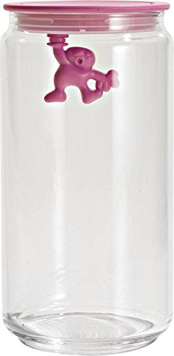 A di Alessi Gianni 6-Cup Glass Jar, Pink