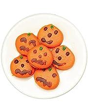 Melody Jane Poppen Huis Oranje Pompoen Cookies op Plaat Halloween Eetkamer Accessoire 1:12
