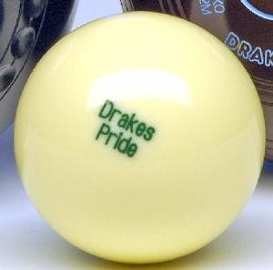 Drakes Pride outdoor jack for flat green bowls - white