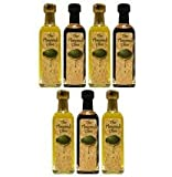 Olive Oil Gift Set - 7 Bottle Variety Pack Can Include: Butter Olive Oil, Rosemary Olive Oil, Lime Olive Oil, Italian Olive Oil Among Others!