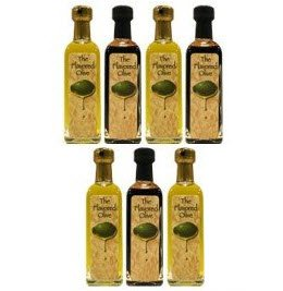 Olive Oil Gift Set - 7 Bottle Variety Pack Can Include: Butter Olive Oil, Rosemary Olive Oil, Lime Olive Oil, Italian Olive Oil Among - Delivery Mail Priority Usps Hours
