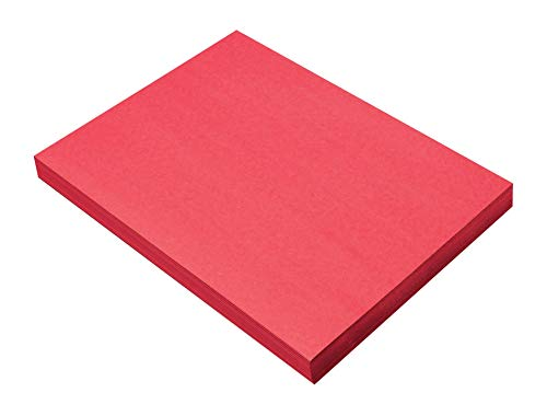 SunWorks Construction Paper, Holiday Red,  9