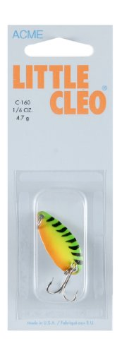 - Acme Little Cleo Fishing Terminal Tackle, 1/6-Ounce, Fire Tiger