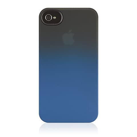 Belkin Essential 063 iPhone 4 Case, Compatible with iPhone 4S (Black / Blue) (Iphone 4 Belkin Essential)