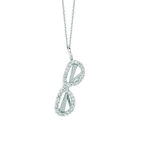 Sun Diamond Bracelets (14K White Gold Diamond sunglass Necklace (Island Collection) - 0.25ctw. Diamond)