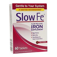 (Slow Fe Slow Release Iron, Tablets, 60 ea - 2pc)
