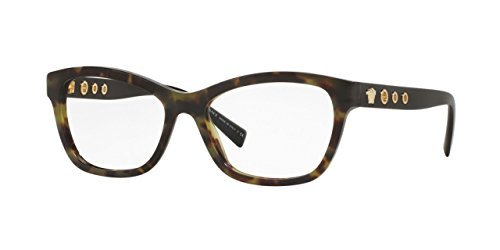 Versace VE3225 Eyeglass Frames 5183-54 - 54mm Lens Diameter Avana Military VE3225-5183-54 by Versace