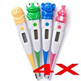 Zoo Animal Digital Pediatric Thermometer for Children - 4-Pack