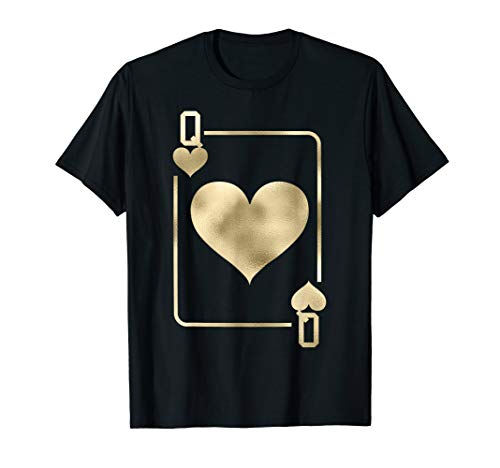Queen of Hearts Shirt Playing Card Halloween -