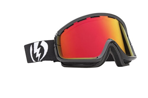 Electric Visual EGB2 Snow Goggle, Gloss Black, Bronze/Red Chrome, Outdoor Stuffs