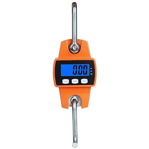 Mini Hoist 300 kg / 600 lb Crane Scale, Industrial Heavy Duty Digital Hanging Scales Home Farm Factory Hunting ()