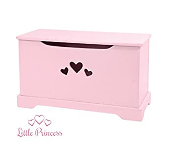 Incroyable Girls Wooden Toy Box Storage Chest Trunk Pink Kids Furniture New