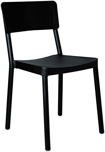 resol Set de 2 sillas de diseño Lisboa para Interior, Exterior, jardín - Color Negro: Amazon.es: Hogar