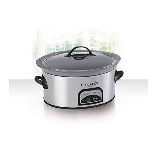 Crock-pot 6 quart Smart-Pot Programmable Slow Cooker with Easy Clean, Stainless Steel