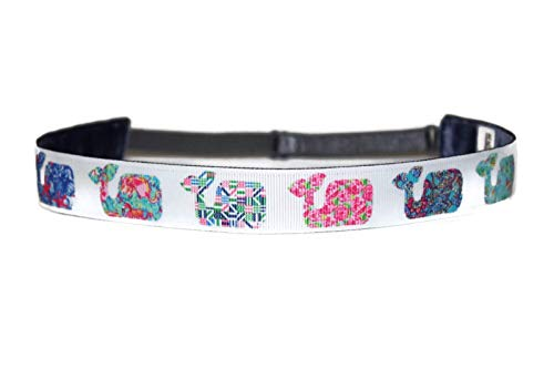 BEACHGIRL Bands Womens Girls Headband Non Slip Adjustable Workout Hairband Preppy Whales]()