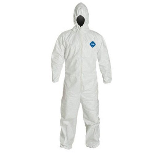 (Tyvek Disposable Suit by Dupont with Elastic Wrists, Ankles and Hood (Medium))