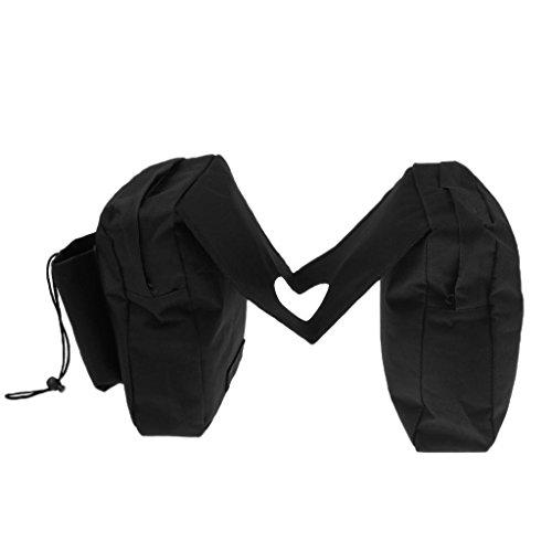 (FidgetFidget Saddle Bag Black Universal ATV Snowmobile Scooter Motorcycle Fuel)