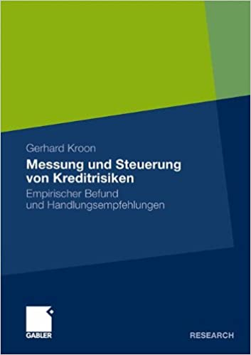 Book Messung und Steuerung von Kreditrisiken: Empirischer Befund und Handlungsempfehlungen