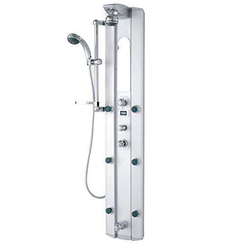 VIGO Palmyra Shower Massage Panel with Digital Thermometer and Spout Vigo Shower Panel