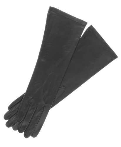 Fratelli Orsini Women's Italian ''6 Button Length'' Unlined Leather Gloves Size 8 Color Black by Fratelli Orsini