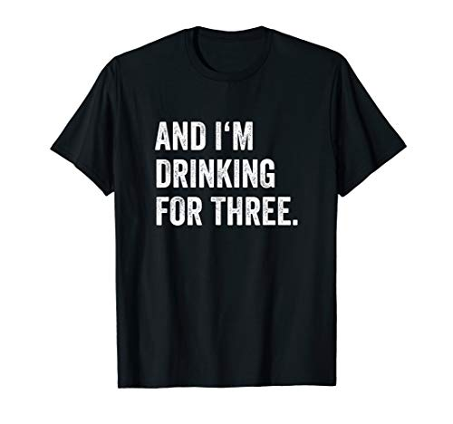 Mens Eating For Two Drinking For Three Couples Shirts | His Tee