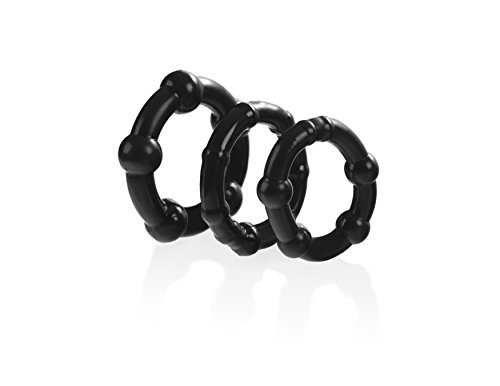 Adult Male Beaded Cock Ring: Penis Enlargement for Longer Sex - Stimulation and Pleasure Enhancement for Men, Women & Couples - Maintain Larger Erections, Last Longer In Bed, and Improve Performance