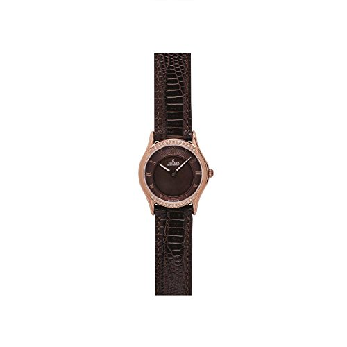 Charmex Cannes 6328 30mm Stainless Steel Case Brown Calfskin Synthetic Sapphire Women's Watch