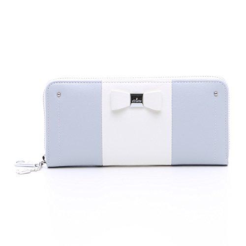 &Chouette Fashion Lady Women Clutch Ribbon Long Wallet Card Holder Purse Samantha Thavasa japanese style (Gray)