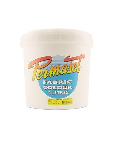 Permaset Aqua Fabric Standard Cover Screenprinting Inks - Glow Yellow - 4 Liters by Permaset