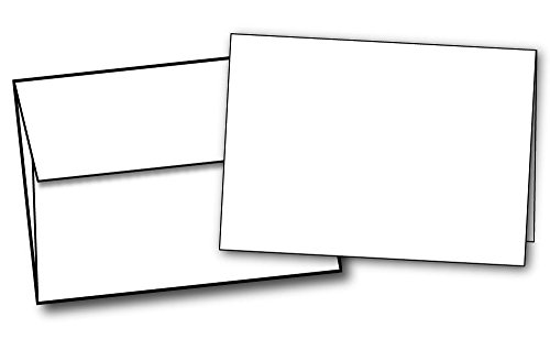 (Heavyweight Small Blank White Greeting Card Sets - 40 Cards & Envelopes - Note Card / Thank You Card Size with A1 Envelopes)