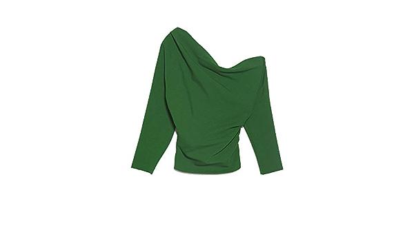 Zara 8361/703/500 - Camiseta de Manga Corta para Mujer Verde ...