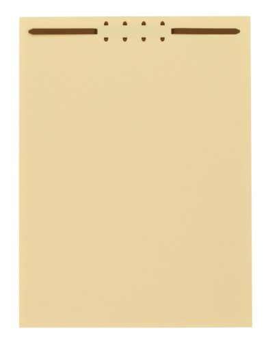 Globe-Weis/Pendaflex File Backs with Fasteners, Letter Size, Manila, 100 Per Box (75511) by Globe Weis