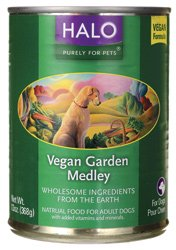 Halo Purely For Pets Natural Canned Dog Food, Vegan Garden Medley, 13 Oz.
