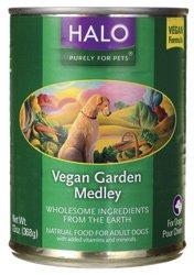 Halo Purely for Pets Natural Canned Dog Food, Vegan Garden Medley, 13 oz.