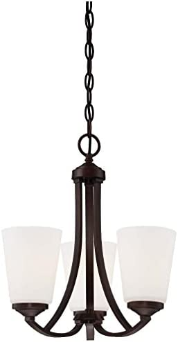Minka Lavery 4963-284 3-Light Mini Chandelier, Vintage Bronze Finish