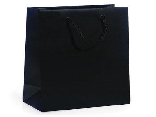 BLACK MATTE Gift Bags JEWELBULK 6-1/2x3-1/2x6-1/2'' 1 unit, 100 pack per unit.