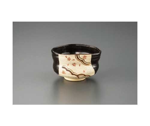 Made by Keitoh Black Oribe 13cm Match Bowl Pottery Ware by