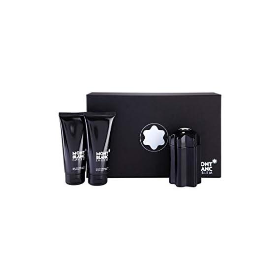 Mont Blanc Emblem Pour Homme Eau De Toilette, 100Ml with After Shave Balm, 100Ml and All Over Shower Gel, 100Ml for Men