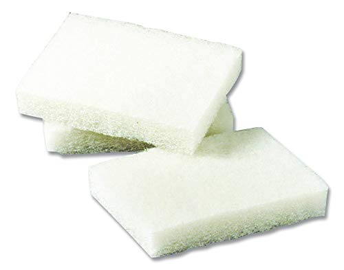 "3M Scotch-Brite 9030 Light Duty Scrubbing Pad, 5"" Length x 3-1/2"" Width, White (Case of 40)"
