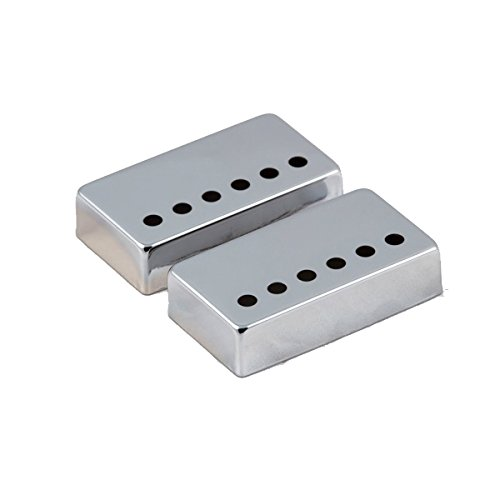 Mighty Mite Humbucker - Mighty Mite Humbucker Pickup Covers Import Pole Spacing Chrome 2 pack