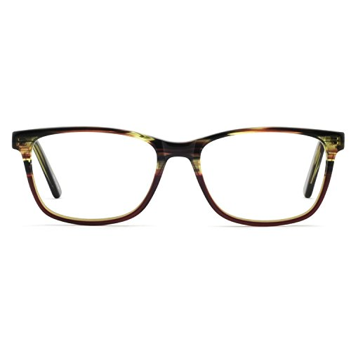 OCCI CHIARI Womens Fashion Non-Prescription Acetate Eyewear Frames with Clear Lens(Brown, ()